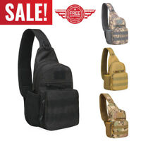 Waterproof Men Tactical Military Messenger Shoulder Bag Sling Chest Bag Outdoor