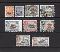 1960 Queen Elizabeth II SG188 to SG198 set of 9 Stamps OPTD. stamps Used CYPRUS