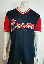 MLB Majestic Atlanta Braves Blue Jersey # 4 Pull On Sewn on Crests sz Medium