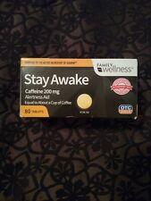 Family Wellness Stay Awake Caffeine Pills 200mg Alertness Aid 80 Tablets
