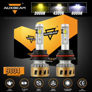 AUXBEAM 9004 LED Headlight 3000K 4300K 6000K for Dodge Ram 1500 2500 3500 94-01