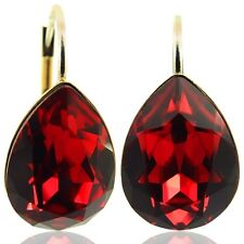 Ohrringe mit kristallen Von Swarovski rot Gold NOBEL schmuck