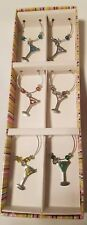 Bed Bath and Beyond  - Set of 6 Martini Wine Charm NEW IN Box