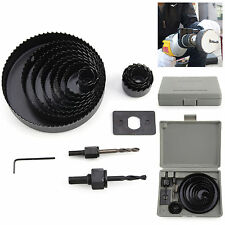 17 HOLE SAW KIT METAL CIRCLE 19-127mm DOWNLIGHTS CUTTER ROUND DRILL Portable UK
