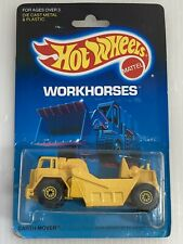 Hot Wheels Earth Mover Workhorses Series #3715 New NRFP 1986 Yellow CTGD 1:64