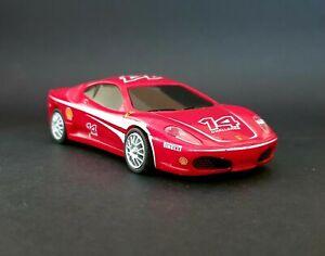 Ferrari F430 Challenge, H0 1:38, Shell V-Power, mit Rückfahrantrieb, Gebraucht.