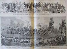 JOURNAL DES VOYAGES N° 529 de 1887 CHINE TONKIN CHASSE A TIGRE / INDIENS PANAMA