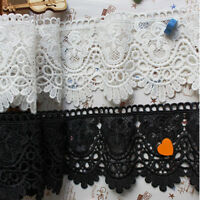 12cm Wide Vintage Embroidered Lace Trim Ribbon Wedding Applique DIY Sewing Craft