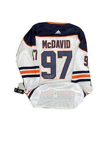 Connor Mcdavid Signed Jersey Edmonton Oilers White 2/3 ** Read Description**