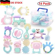 14pcs Rassel Beißring Set Baby Neugeborenen Greifen Rassel Frühe Lernspielzeug