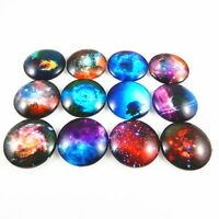 8-30mm Flatback Cameo Mixed Color Round Glass Cabochons Jewelry Making Crafts