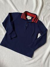 Orig. Gucci Kinder Polo Shirt Bluse Hemd Langarm Gr 110 cm / 5 Jahre Blau