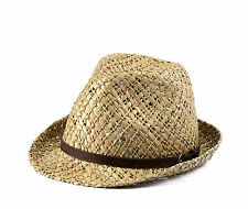 Miuno® Herren Triby Hut Party Stroh Hut mit Gürtelband H51031