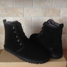 UGG Harkley Black Suede Sheepskin Winter Warm Chukka  Boots Shoes Size 11 Mens