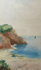Original Stanley A Burchett Watercolour Seascape Painting , Signed, Coastal..