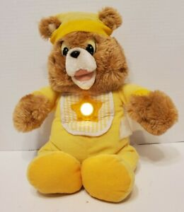 Vintage Yellow Teddy Ruxpin VERY RARE BEAR Nighty Lite 1985 Worlds of Wonder