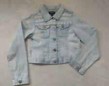 Euc Girls Jean Jacket Size 10 Medium By Kidpik Light Denim Flowers