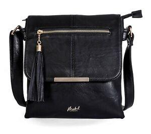 Big Handbag Shop Womens Medium Size Trendy Messenger Cross Body Shoulder Bag