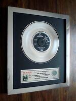 "THE BEATLES PLEASE PLEASE ME PLATINUM DISC 7"" SINGLE RECORD AWARD"