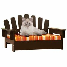 Wooden Adirondack Pet Chair Indoor Pet Furniture Comfort Cat or Small  Dog