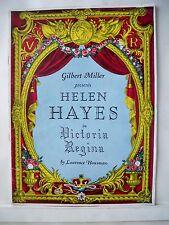 VICTORIA REGINA Souvenir Program HELEN HAYES / WERNER BATEMAN NYC 1938