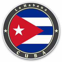 2 x Vinyl Stickers 7.5cm - Cuba Flag La Habana Cuban Travel Cool Gift #9242