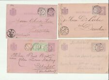Netherlands Postal History:  8 uncommon small-round cancels to Europe (1881-92)
