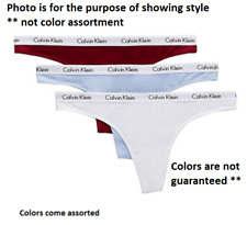 SIZES / COLORS Calvin Klein Cotton Thong 3-Pack