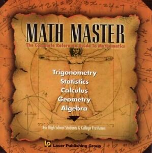 MATH MASTER; The complete Reference Guide to Mathematics CD
