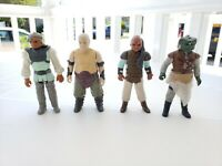 Vintage Star Wars Skiff Guards Klaatu, Weequay and Nikto with Rancor Keeper 1983