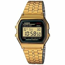 Casio A159WGEA-1 Unisex Gold Tone Stainless Steel Digital Vintage Retro Watch