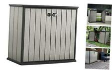 Keter Patio Store 4.6 x 2.5 Foot Resin Outdoor Storage Shed with Paintable and