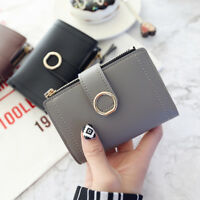 Womens PU Leather Small Mini Wallet Card Holder Zip Coin Purse Clutch Wallet