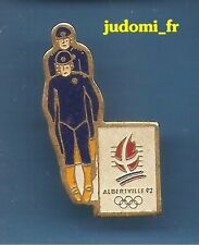 Pin's pin J.O JEUX OLYMPIQUES ALBERTVILLE LUGE (ref 018)