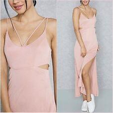 SALE Topshop Pink Slit Side Camisole Flowy Midi Dress Size 6  8 12 US 2 4 8 ❤