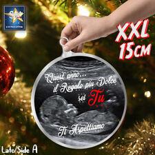Palla di Natale XXL babbo decorazione addobbo ECOGRAFIA IDEA REGALO