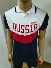 """BOSCO SPORT Herren POLO-Shirt Collection """"RUSSIA 2018"""" OLYMPIC TEAM, weiß/rot"""