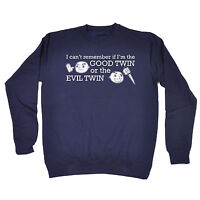 Good Twin Evil Twin SWEATSHIRT birthday gift sibling brother sister funny
