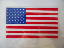 "(2) US Flag Decals 5""x3"" United States Old Glory Stars & Stripes Vinyl Stickers"