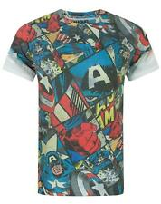 Captain America Comic Sublimation Men's T-Shirt