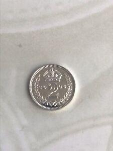 2006 Maundy 2 Penny 2D - Elizabeth II Silver (.925) 0.94g 13 mm KM# 899,Sp# 4214