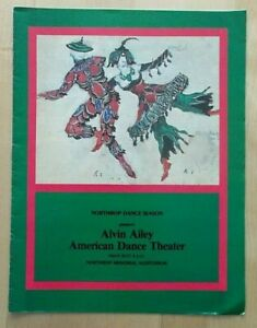 Alvin Ailey American Dance Theater programme Northrop University Minnesota 1985