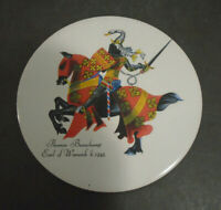 VINTAGE TRIVET COASTER THOMAS BEAUCHAMP EARL OF WARWICK B. 1345 LARGE 6""