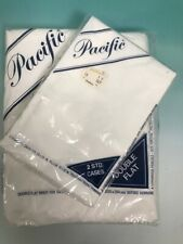 Vintage Pacific white  double full Flat sheet and pillow cases