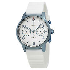 Fossil Caiden Silver Dial Ladies Dual Time Watch ES4235