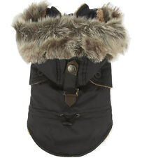 Pet London Puppia Luxury Collection December Hooded Dog Coat - Black - RRP £78