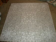Christmas Ivory lace Holly Berry design Tablecloth 60 x 60