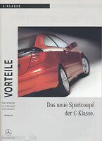 1348MB Mercedes C-Klasse Sportcoupe Vorteile 2000 9/00 Publikation Prospekt