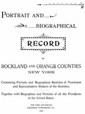 1895 Genealogy Bios Rockland & Orange Co New York NY