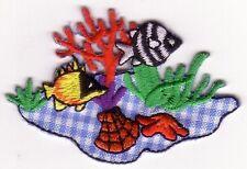 Marine Butterfly Fish Zebra Damsel Embroidery Patch